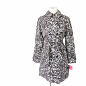 New KATE SPADE - Leopard Trench Coat Jacket